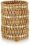 """Paris-based jeweler Philippe Audibert is all about """"sophistication and elegance"""", and this gold-plated cuff epitomizes his signature aesthetic."""