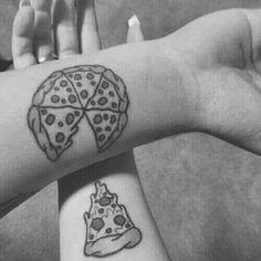 Imagem de pizza, tattoo, and couple