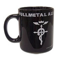 From the hit anime series Fullmetal Alchemist comes this officially licensed mug! This stylish 11 ounce mug features the Flamel, a mystical and alchemical symbol depicted as a cross with a snake drape