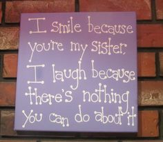 Gift for Sister Sister Quote Canvas Art by MadeByTheHearth, $17.00                                                                                                                                                                                 More