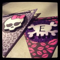 Monster high banner made with cricut!