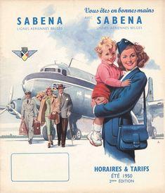 Sabena Lignes Aeriennes Belges 1950 Hands - Mad Men Art: The Vintage Advertisement Art Collection Retro Airline, Airline Travel, Aviation World, Aviation Art, Belle Epoque, Vintage Advertisements, Vintage Ads, Space Travel, Air Travel