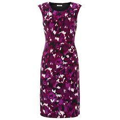 Buy Precis Petite Blurred Ikat Print Dress, Multi Dark Online at johnlewis.com