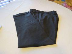 Mens Lands' End Pant pants slacks wool blend 37 black EUC@ #LandsEnd #CasualPants