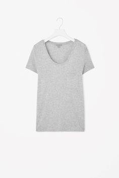 A COS favourite, this t-shirt is made from extra-soft, fluid jersey. A relaxed fit, it has short cap sleeves and a deep round neckline – wear it on its own or as an easy extra layer.
