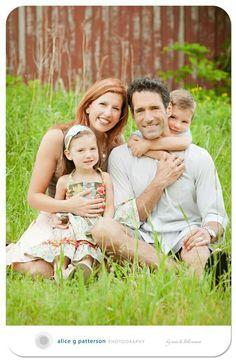 Shabby chic outdoor family