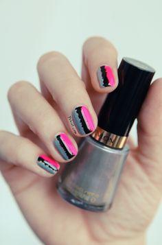 (Tuto) Le nail art « effet couture » Pshiiit