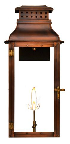 New updated, Palmetto Street Gas and Electric Copper Lantern-available in 3 sizes and new made by Coppersmith Backyard Lighting, Porch Lighting, Exterior Lighting, Outdoor Lighting, Cove Lighting, Copper Lantern, Copper Pendant Lights, Front Porch Columns, Gas Lanterns