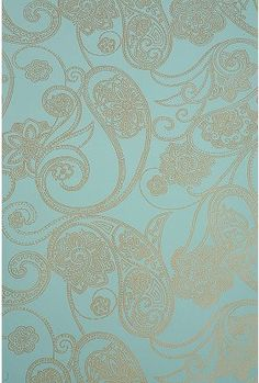 "Paisley Dot Wallpaper  $69 Overview:  * Wallpaper  * Wipe clean  * Made in the USA  * Wallpaper paste not included  * 56 square feet  * 11 yards long; 20.5""w  * Web exclusive      Description:  Classic wallpaper embossed with a paisley design. Instructions included; wallpaper paste required."