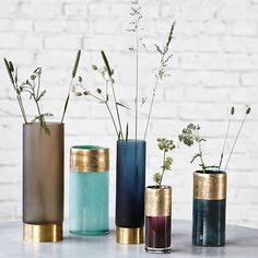 Lost Vase 18cm, Blåmetallic/Guld 170 kr. - RoyalDesign.dk