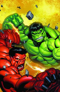 """(Hulk Comic #29 """"Scorched Earth Part 5: Exit Strategy"""" Cover) By: Gabriel Hardman & Mark Robinson."""