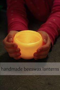 handmade beeswax lanterns - montessori works