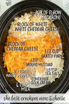 Crockpot Mac and Cheese This homemade crockpot mac and cheese recipe comes together beautifully in your slow cooker. This is no ordinary crockpot mac and cheese recipe because it's extra creamy and full of flavor thanks to an amazing combo of milk, season Easy Make Ahead Appetizers, Fun Easy Recipes, Easy Meals, Meat Appetizers, Simple Appetizers, Summer Crock Pot Recipes, Recipes Dinner, Party Crockpot Recipes, Slow Cooker Easy Recipes