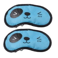 """Rosallini Cartoon Animal Pattern Elastic Strap Sky Blue Sleeping Mask Cover Eyeshade 2 Pcs by Rosallini. $3.43. Product Name : Eyeshade;Features : Cartoon Animal Character. Mask Size(Approx) : 20 x 11cm / 7.9"""" x 4.3""""( L * W);Fit Head Girth(Approx) : 50 - 58cm / 19.7"""" - 22.8"""". Main Color : Black, Sky Blue;Mateiral : Polyester, Sponge. Package : 2 x Eyeshade. Net Weight : 13g. Features: Cartoon Animal Character, Oval Shaped, Built-in Sponge. Elastic strap for perf..."""