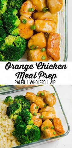 This orange chicken meal prep is perfect for making on the weekend to have lunch throughout the week! It's gluten-free, paleo, and can be made whole30 and AIP.