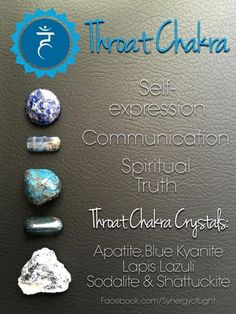 Throat Chakra Crystals - - loved & pinned by www.omved.com