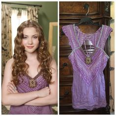 """Free people purple jeweled top  ASO Skyler Samuels in the promo photoshoot for the tv show """"The Gates"""".  This beauty is one of my fave tops.  I'm still not sure I even want to sell it (which is why it's priced higher), but I think an XS would fit me better.  Make an offer! ✅ Free People Tops"""