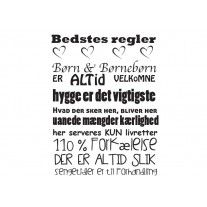 BEDSTES REGLER (FORSKELLIGE STØRRELSER)