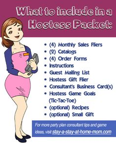 what to include in a hostess packet