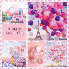 Balloons, Collages, Tea, Cake, Globes, Kuchen, Balloon, Torte, Collage