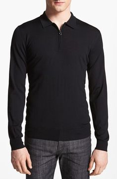 Salvatore Ferragamo Half Zip Polo Sweater available at #Nordstrom