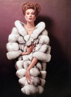 Wilhelmina Cooper ♥ 1960's models, john rawlings, style, vintag fashion, furs, fur coat, vintag fur, coats, wilhelmina cooper
