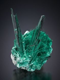 Brochantite is a sulphate mineral which forms in arid climates or in rapidly oxidising copper sulphide deposits