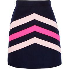 MSGM Chevron-paneled wool-blend mini skirt (9.665 RUB) ❤ liked on Polyvore featuring skirts, mini skirts, bottoms, msgm, faldas, saia, blue, chevron mini skirt, pastel blue skirt and chevron striped skirt