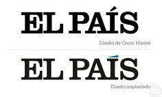 Dos propuestas para la tilde de El País: la de Oscar Mariné y la que se llevó a cabo