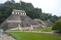 Palenque archaeological site in Chiapas