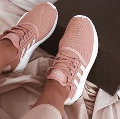 """""""Adidas"""" Trendy Women& Pink Running Sport Shoes - Un .- """"Adidas"""" Damenmode im Trend Pink Running Sportschuhe – Unbedingt kaufen – """"Adidas"""" Trendy Women& Pink Running Sport Shoes – Must buy – buy - Women's Shoes, Cute Shoes, Me Too Shoes, Shoe Boots, Shoes Sneakers, Running Sneakers, Pink Shoes, Girls Sneakers, Sneakers Style"""