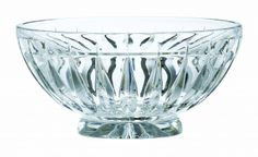 """From latin origin Clara means light and bright. Apt for this pattern as the fluidity of the cut reveals the lustrous sparkle that makes Clara a joy to behold. The Clara Bowl is 10"""". From Ireland."""