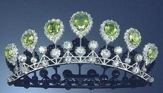 Peridot and Diamond Tiara