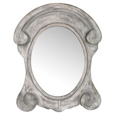 Salvaged wood wall mirror with hand-carved scrolling details.  Product: Wall mirrorConstruction Material: Salvag...