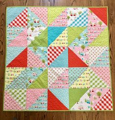 This quilt is perfect for the baby/child on the go. The front is a patchwork of campers and picnic prints and features a machine sewn binding for durability. The backing is poly/cotton mining for extra softness.