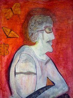 Una idea, mucho arte  De perfil Gabriel García Márquez Acuarela,  68 x 55 cm Autor:  Fran Nore
