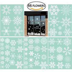 66 Snowflake Window Clings Christmas Window Decorations 3... https://www.amazon.com/dp/B01LZUDJGU/ref=cm_sw_r_pi_dp_x_9pccybDVZ7BX8