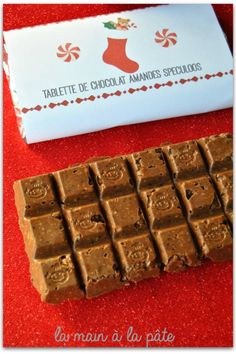 Tablette de chocolat amandes speculoos