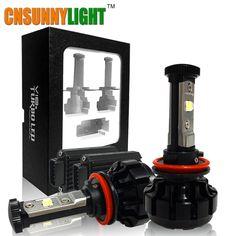 Cheap led lightning, Buy Quality led headlamp headlight directly from China led light headlight Suppliers: CNSUNNYLIGHT Super Bright Car LED Headlight Kit 9007 Hi/Lo 9005 9006 w/ Chips Replacement Bulbs