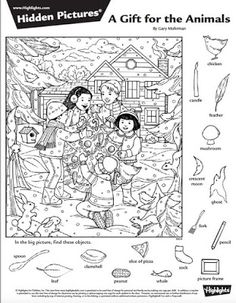 Játékos tanulás és kreativitás: Fenntarthatósági témahét: Mit mesél a természet? (Évszakok) Hidden Picture Games, Hidden Picture Puzzles, Hidden Pictures Printables, Highlights Hidden Pictures, Whale Pictures, Coloring Books, Coloring Pages, Hidden Words, Grande Section