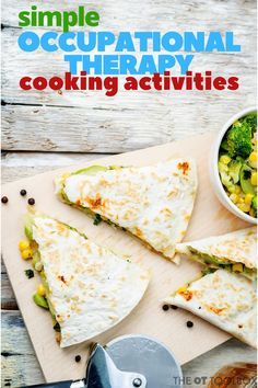 Use these cooking with kids recipes as simple meal prep ideas for occupational therapy sessions and working on executive function, development, and more. Healthy Meals To Cook, Healthy Cooking, Healthy Recipes, Preschool Cooking, Kid Cooking, Cooking Recipes For Kids, Kids Cooking Activities, Cooking Tools, Family Recipes