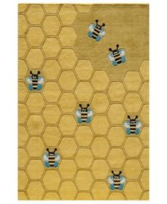 Momeni Area Rug, Lil Mo Whimsy Lmj-15 Honeycomb Gold 8' x 10'