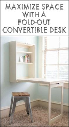 This Fold Out Desk is Great if Space is at a Premium at Your Home