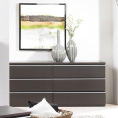 Tvilum Tucson Bedroom 6 Drawer Double Dresser   Wayfair