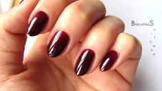 Blood red ombre nails