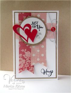 Handmade card by Marisa using the Love Notes set from Verve.  #vervestamps
