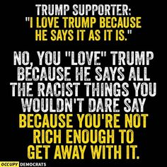 "OMG! ... Is this why so many people love Trump ""because he says it as it is."" ..."