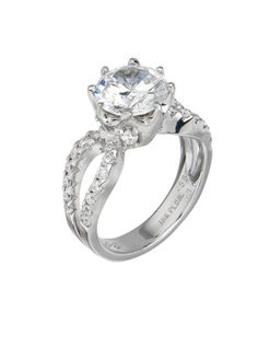 Bergio Bridal Ring: 18 Karat Gold or Platinum with White Princess Cut Diamonds - See more at: http://www.bergio.com/collections/bridal-ring-bb1054/#sthash.z9A4RPNR.dpuf