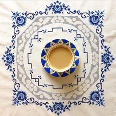 Biraz mavi, çokça huzur Çalışmanın bulunduğu sayfa @pinarmy  #embroidery #crossstitch #kanaviçe #etamin #örtü #mavi #tasarım #design…