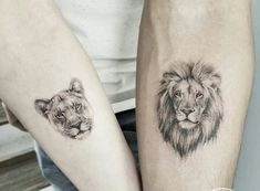 49 Ideas lion tattoo ideas for women leo Lion And Lioness Tattoo, Female Lion Tattoo, Lion Head Tattoos, Leo Tattoos, Couple Tattoos, Animal Tattoos, Finger Tattoos, Sleeve Tattoos, Tattoos For Guys